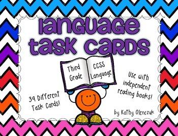 Language Task Cards -- CCSS Grade 3