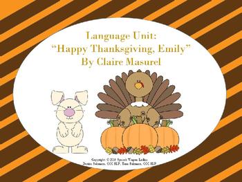 "Language Unit: ""Happy Thanksgiving, Emily"" By Claire Masurel"