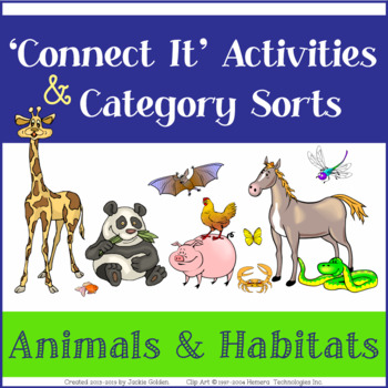 "Language Vocab Activities: Category Sorts & ""Connect It"" W"
