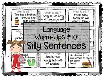 Language Warm-Ups #10: Silly Sentences for Speech/Language