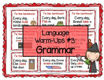 Language Warm-Ups #3: Grammar for Speech/Language Therapy / ESL