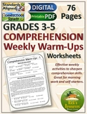 Reading Comprehension Weekly Warm-ups