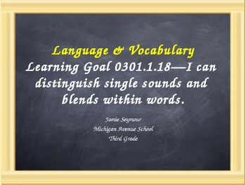 Language and Vocabulary: Single Sounds and Blends Review