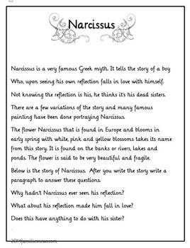 Language arts: Narcissus