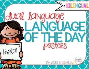 Language of the Day Posters {Dual Language}