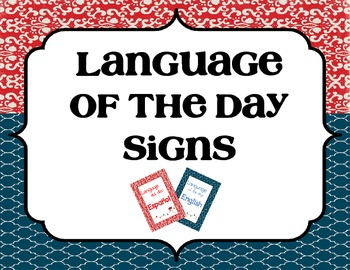 Language of the Day Sign