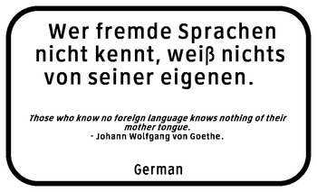 Language sayings poster--German