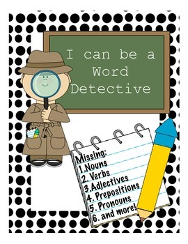 """Language/Reading Activity: Word Scavenger Hunt """"Be a Word"""