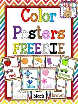 Lanier's Lions Color Posters: FREEBIE