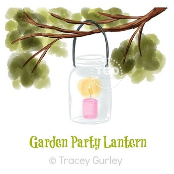 Lantern in Tree Branch - Wedding, Garden, lantern clip art