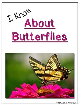 """Lap Book """"About Butterflies"""" with Everything you need!"""