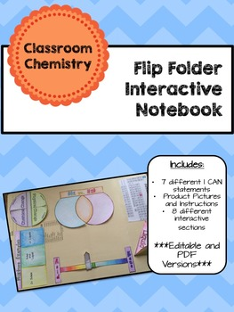 Lapbook/Interactive Notebook Classroom INB Chemistry- EDITABLE