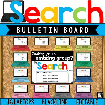 Laptop Google Search Results Bulletin Board Accents - Edit