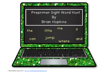 Laptop Preprimer Sight Word Hunt