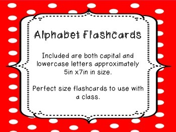 Large Alphabet Flash Cards ~ Capital & Lowercase