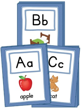 Large Alphabet Picture Cards {COLOR + BW}