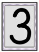 Large Black Numbers with a light gray background with a da