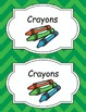 Large Bright Chevron Labels *GREEN*