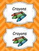 Large Bright Chevron Labels *ORANGE*