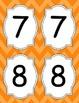 Large Bright Chevron Table Numbers *ORANGE*