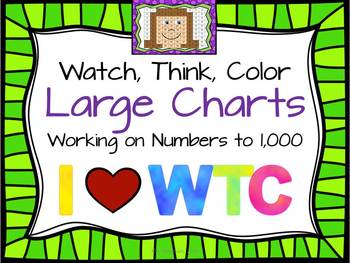 Large Charts for Watch, Think, Color games