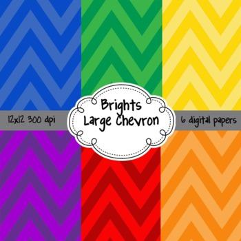 Large Chevron Brights Pack FREEBIE 12x12 digital background paper