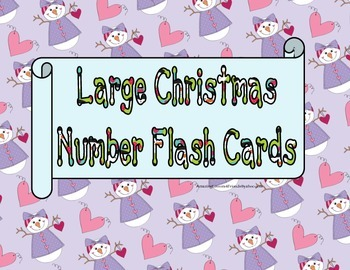 Large Christmas Number Flash Cards