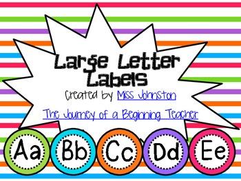 Large Colorful Letter Labels