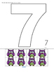 Halloween Large Cut and Paste Numbers 1-12 Preschool and Pre-K