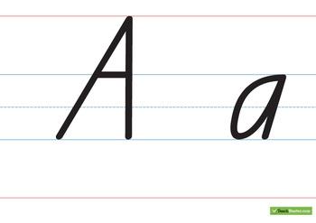 Large Handwriting Chart – Capital & Lower Case - Queensland Print