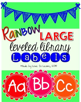 Large Leveled Library Labels - Rainbow