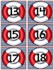Large Nautical Theme Number Labels