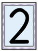 Large Numbers with number word and ten frame
