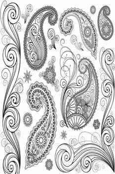 Large Paisley Coloring Sheet