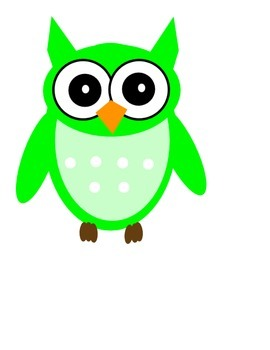Large Printable Colored Owls