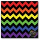 Large Rainbow Chevron {BLACK} Digital Papers {Commercial U