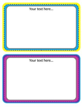 Large Rectangular editable text Frames