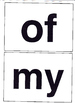 Large Sight Word Cards