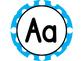 Large Word Wall Headers (Aqua and White Polka Dot Circles)