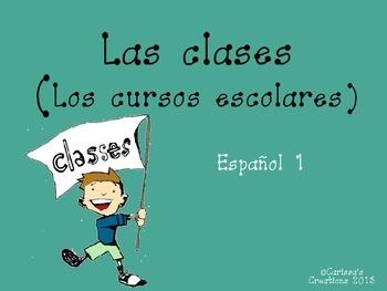 Las Clases (Cursos Escolares) Spanish Classes Vocabulary P