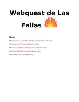 Las Fallas festival webquest