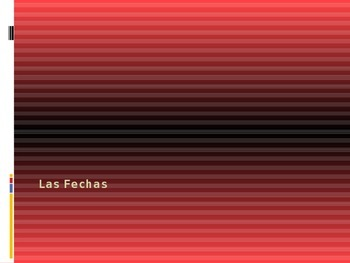 Las Fechas - Giving Dates in Spanish - Months of the Year