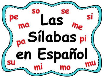 Las Sílabas en Español - PowerPoint