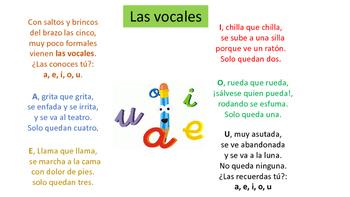 Las Vocales( The vowels)