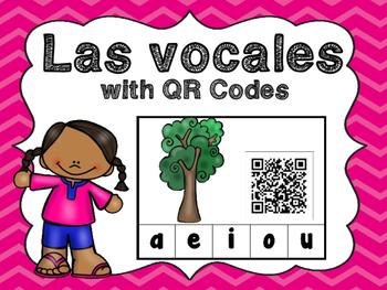 Las Vocales with QR Codes