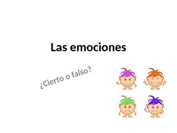 Las emociones. Estar + adjectives of emotion