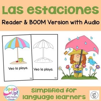 Las estaciones Spanish Emergent Reader Book {Dual language
