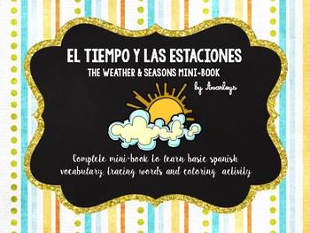 Las estaciones y el tiempo minibook - Seasons and weather