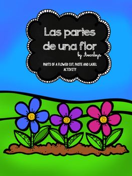 Las partes de una flor ~ Parts of a flower cut, paste and