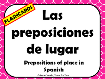 Las preposiciones de lugar flashcards Prepositions of place